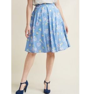 ModCloth Just this Sway Bicycle 🚲 Skirt Size XXS